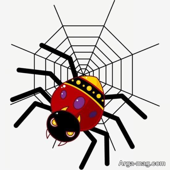 آموزش نقاشی عنکبوت