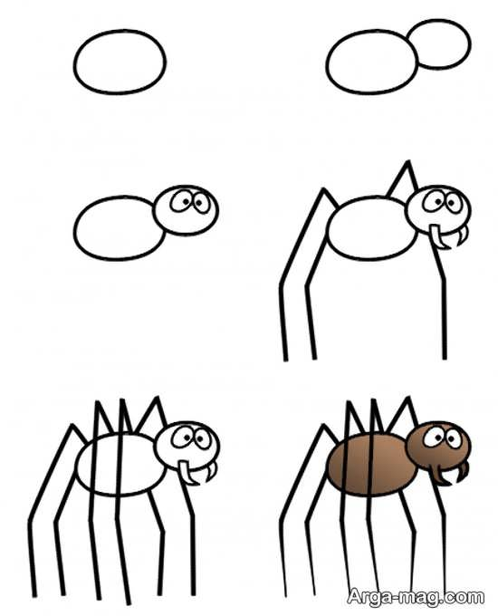 نقاشی و رنگ آمیزی عنکبوت