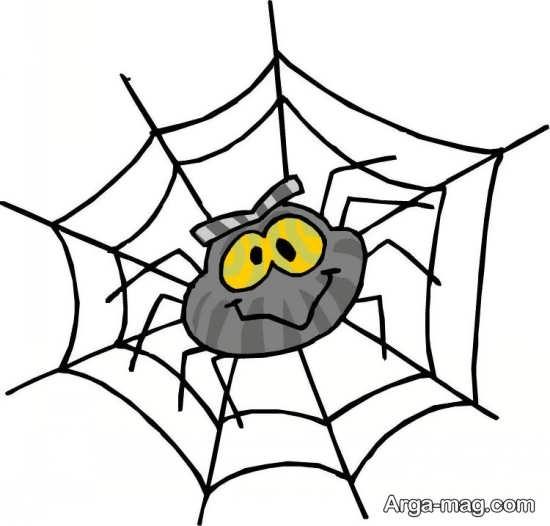 رنگ کردن عنکبوت نقاشی