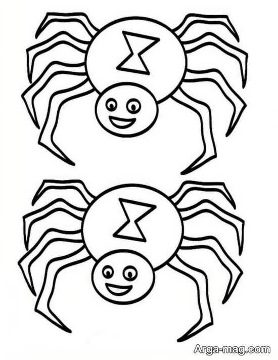 نمونه نقاشی ساده عنکبوت