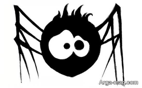 نقاشی پسرانه عنکبوت