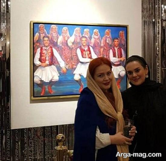 بهاره رهنما و همسرش در افتتاحیه نمایشگاه صدایی از بهشت