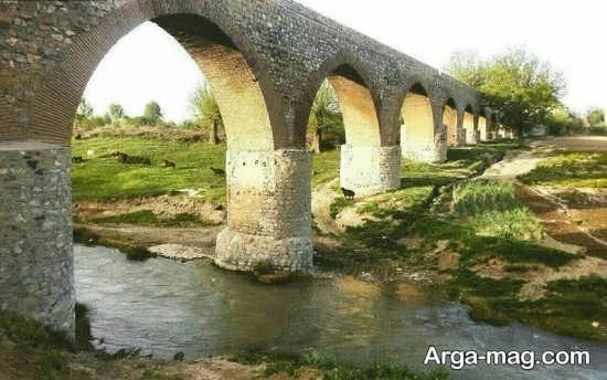 پل زیبا در شهر بروجرد