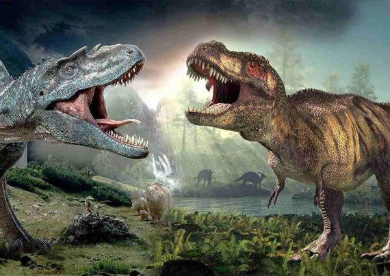 نمونه کودکانه نقاشی دایناسور