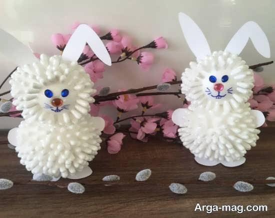 ساخت عروسک خرگوش با گوش پاک کن
