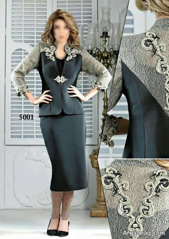کت دامن کار شده زنانه