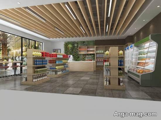 طراحی جالب سقف مغازه