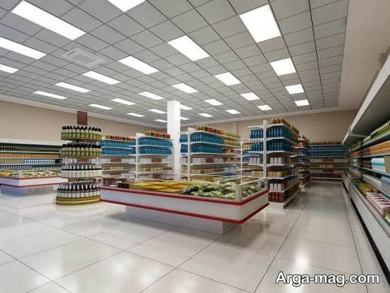 طراحی ساده سقف مغازه