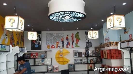 طراحی مدرن سقف مغازه