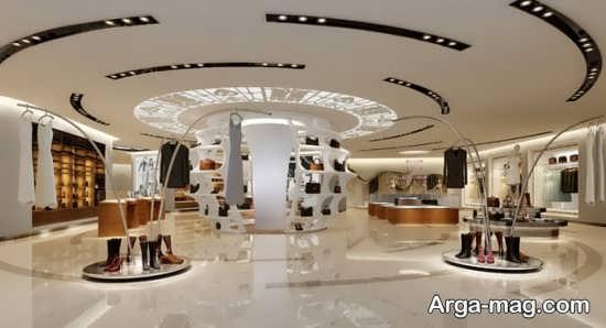 طراحی لاکچری سقف مغازه