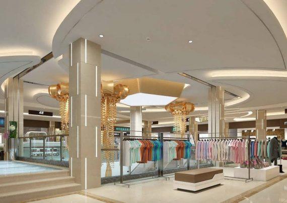 سقف مغازه با طراحی خلاقانه