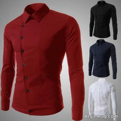 مدل پیراهن قرمز مردانه