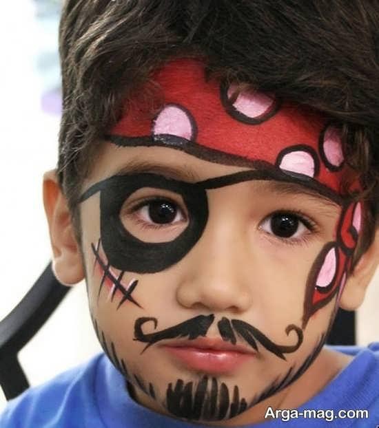 نقاشی دزد دریایی برای صورت