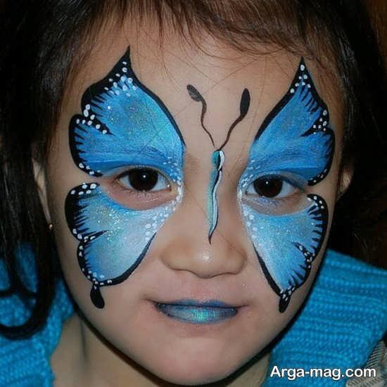 نقاشی پروانه ای صورت