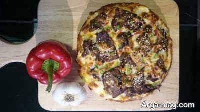 روش تهیه پیتزا زبان