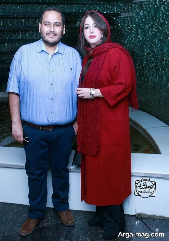 رضا داود نژاد و همسرش