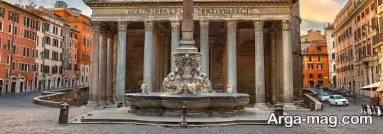 نمای زیبایی از رم