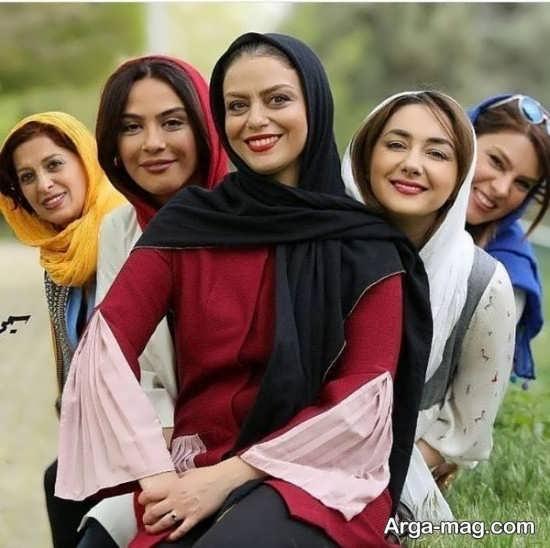 بازیگران زن در پارک