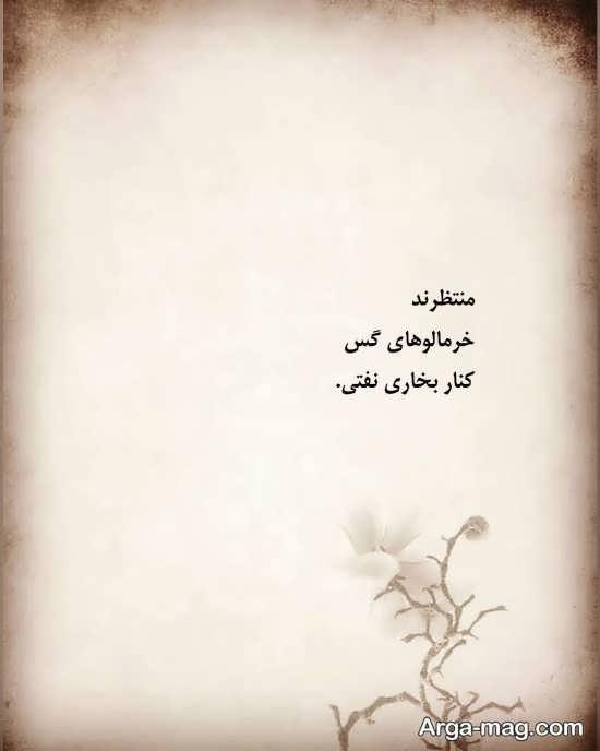 عکس با شعر کوتاه شعر نو