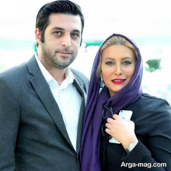 فریبا نادری در کنار همسر جدیدش