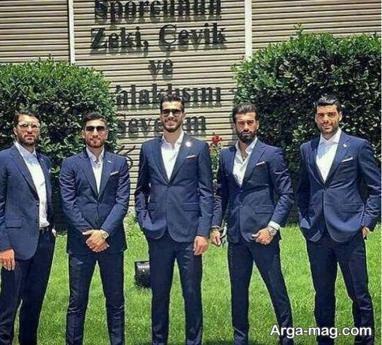 رامین رضاییان در کنار سایر بازیکنان تیم ملی