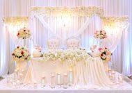 تزیین جایگاه عروس و داماد با تور