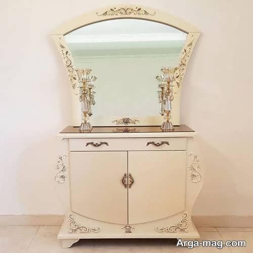 آینه و شمعدان شیک و جدید