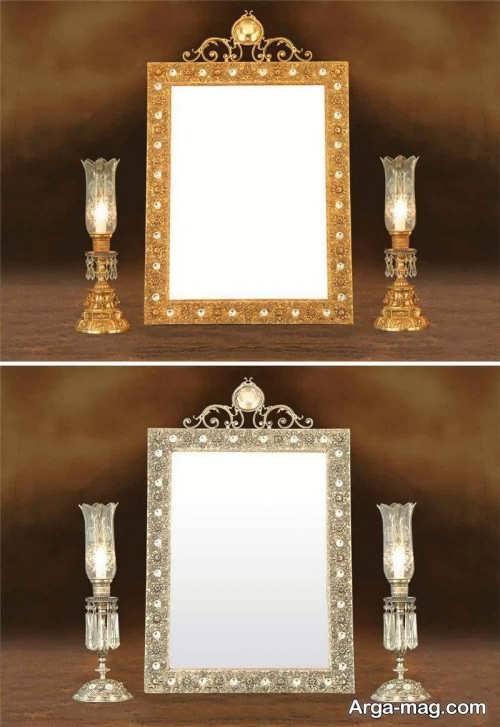 آینه و شمعدان زیبا و جدید برای عروس