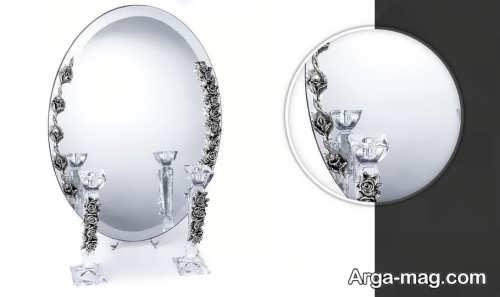 مدل آینه و شمعدان عروس زیبا و کار شده