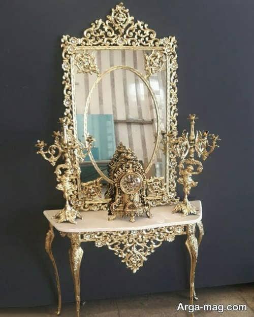 مدل آینه و شمعدان شیک و زیبا