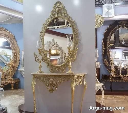 آینه و شمعدان زیبا و جذاب