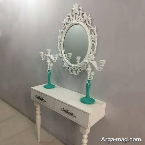 مدل آینه و شمعدان عروس سفید