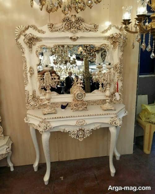 آینه و شمعدان کار شده و شیک