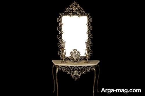 آینه و شمعدان شیک برای عروس
