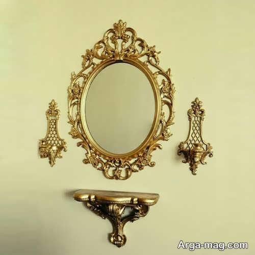 آینه و شمعدان دیواری