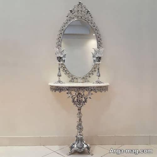 مدل آینه و شمعدان عروس شیک و زیبا