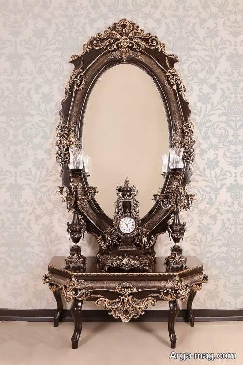 آینه و شمعدان زیبا و شیک