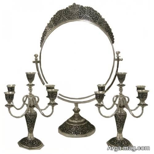 آینه و شمعدان شیک و زیبا