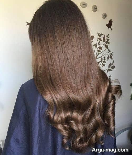 رنگ موی قهوه ای شکلاتی روشن