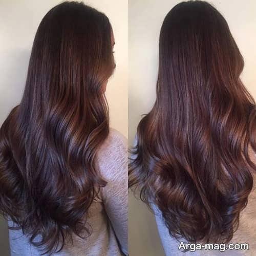 رنگ موی شیک قهوه ای شکلاتی