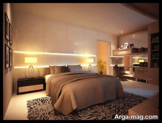 تم بژ در طراحی اتاق خواب