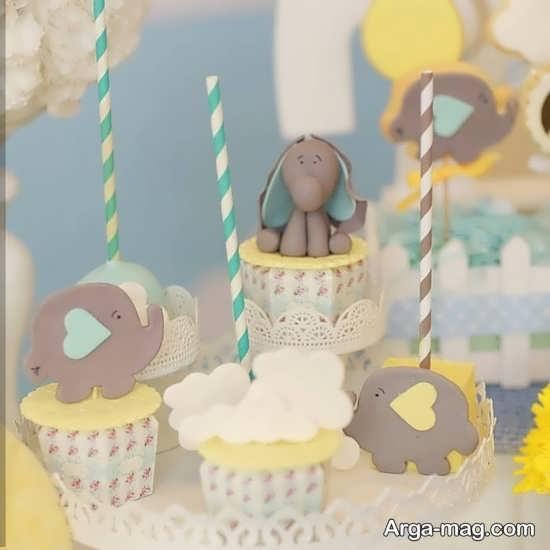 تزیینات کاپ کیک های فیل کوچولو