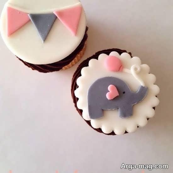 کاپ کیک های تزیینی تم فیل