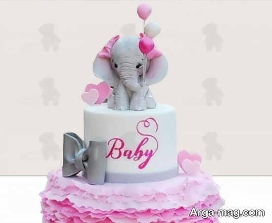 ایده تزیین کیک تم تولد فیل