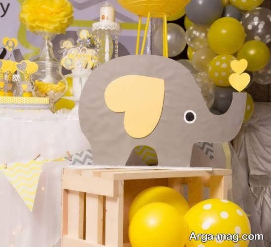 تزیین فانتزی تم تولد فیل