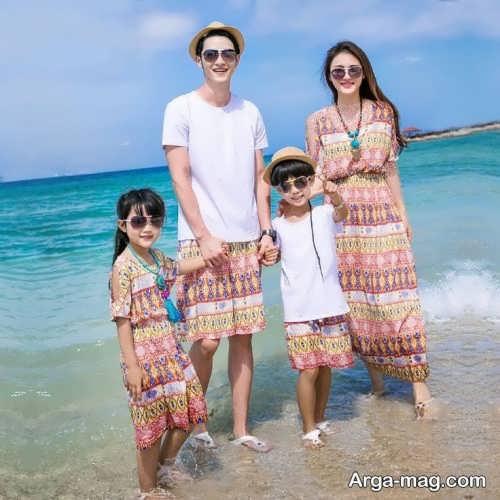 مدل لباس ست حریر خانوادگی