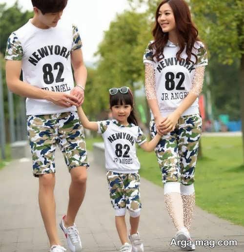 مدل های لباس ست خانوادگی طرح دار