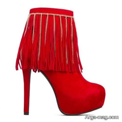 کفش مجلسی پاشنه دار قرمز