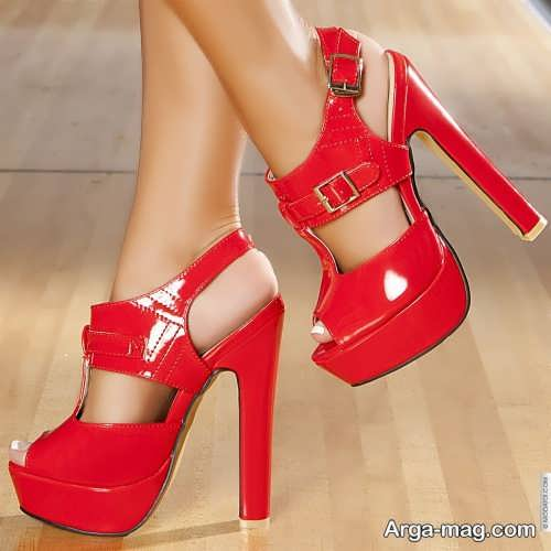 کفش مجلسی قرمز دخترانه