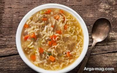 طرز تهیه سوپ نودل